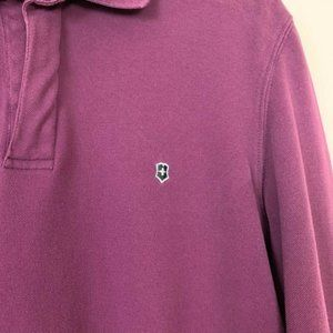 Victorinox Shirts - Victorinox Pima cotton henley polo l/s golf shirt